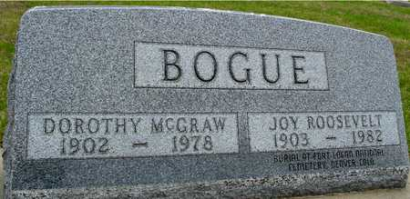 MCGRAW BOGUE, DOROTHY - Woodbury County, Iowa | DOROTHY MCGRAW BOGUE