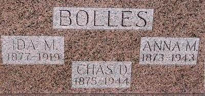BOLLES, CHARLES, IDA, ANNA - Woodbury County, Iowa | CHARLES, IDA, ANNA BOLLES