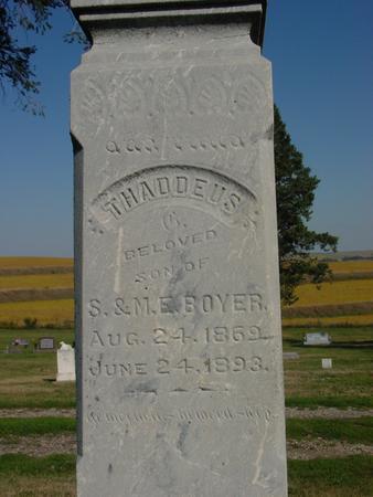 BOYER, THADDEUS - Woodbury County, Iowa | THADDEUS BOYER