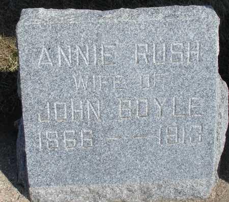 RUSH BOYLE, ANNIE - Woodbury County, Iowa | ANNIE RUSH BOYLE