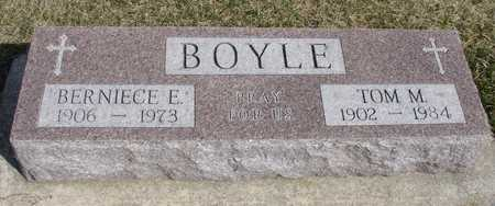 BOYLE, TOM & BERNIECE - Woodbury County, Iowa | TOM & BERNIECE BOYLE