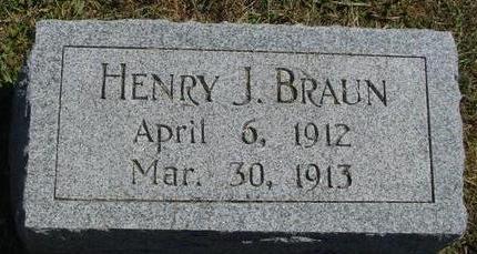 BRAUN, HENRY J. - Woodbury County, Iowa | HENRY J. BRAUN