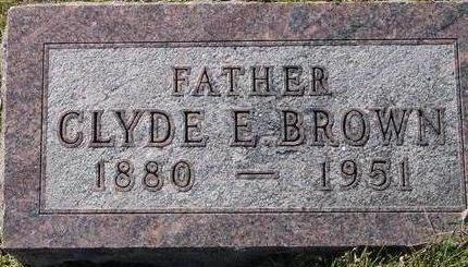 BROWN, CLYDE E. - Woodbury County, Iowa | CLYDE E. BROWN
