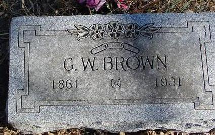BROWN, G. W. - Woodbury County, Iowa | G. W. BROWN