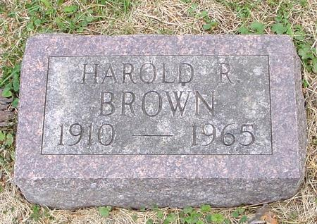 BROWN, HAROLD R. - Woodbury County, Iowa | HAROLD R. BROWN