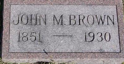 BROWN, JOHN M. - Woodbury County, Iowa | JOHN M. BROWN