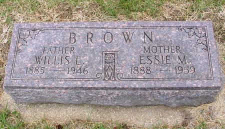 BROWN, WILLIS L. & ESSIE M. - Woodbury County, Iowa | WILLIS L. & ESSIE M. BROWN