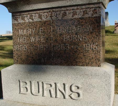 BURNS, OSCAR W. & MARY E. - Woodbury County, Iowa | OSCAR W. & MARY E. BURNS