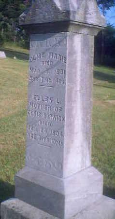 BURWICK, OLISE MARIE - Woodbury County, Iowa | OLISE MARIE BURWICK