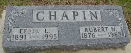 CHAPIN, RUBERT & EFFIE - Woodbury County, Iowa | RUBERT & EFFIE CHAPIN