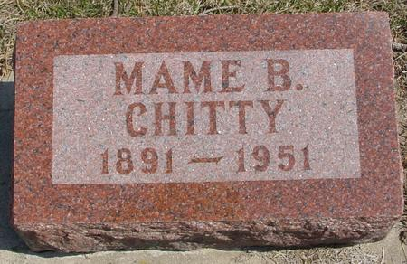 CHITTY, MAME B. - Woodbury County, Iowa | MAME B. CHITTY