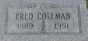 COLEMAN, FRED - Woodbury County, Iowa | FRED COLEMAN