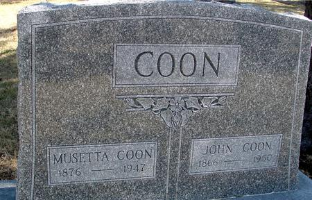 COON, JOHN & MUSETTA - Woodbury County, Iowa | JOHN & MUSETTA COON