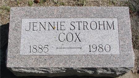 STROHM COX, JENNIE - Woodbury County, Iowa | JENNIE STROHM COX