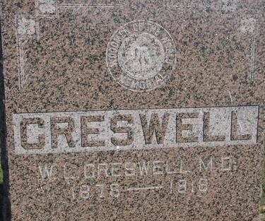 CRESWELL, W. L.  (M.D.) - Woodbury County, Iowa | W. L.  (M.D.) CRESWELL