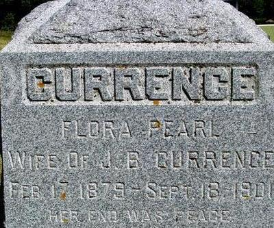 CURRENCE, FLORA PEARL - Woodbury County, Iowa | FLORA PEARL CURRENCE