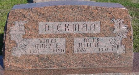 DICKMAN, WM. J. & MARY E. - Woodbury County, Iowa | WM. J. & MARY E. DICKMAN