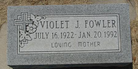 FOWLER, VIOLET J. - Woodbury County, Iowa | VIOLET J. FOWLER