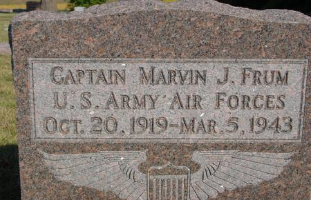FRUM, CAPT. MARVIN J. - Woodbury County, Iowa | CAPT. MARVIN J. FRUM