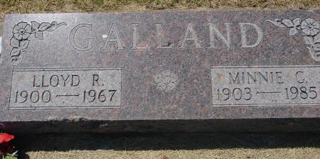 GALLAND, LLOYD  R. - Woodbury County, Iowa | LLOYD  R. GALLAND