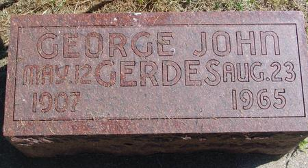 GERDES, GEORGE JOHN - Woodbury County, Iowa | GEORGE JOHN GERDES