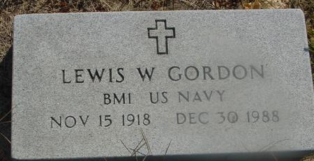 GORDON, LEWIS W. - Woodbury County, Iowa | LEWIS W. GORDON