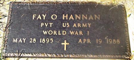HANNAN, FAY O. - Woodbury County, Iowa | FAY O. HANNAN