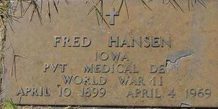 HANSEN, FRED - Woodbury County, Iowa | FRED HANSEN