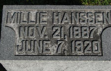 HANSSEN, MILLIE - Woodbury County, Iowa | MILLIE HANSSEN