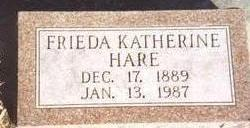 HARE, FRIEDA KATHERINE - Woodbury County, Iowa | FRIEDA KATHERINE HARE