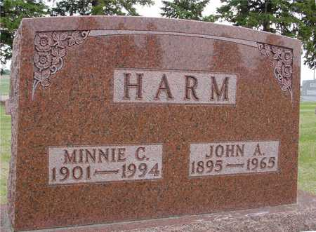 HARM, JOHN A. & MINNIE - Woodbury County, Iowa | JOHN A. & MINNIE HARM