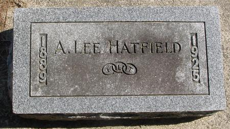 HATFIELD, A. LEE - Woodbury County, Iowa | A. LEE HATFIELD