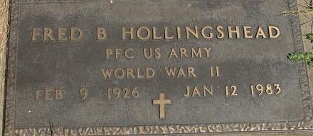 HOLLINGSHEAD, FRED B. - Woodbury County, Iowa | FRED B. HOLLINGSHEAD