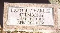 HOLMBERG, HAROLD CHARLES - Woodbury County, Iowa | HAROLD CHARLES HOLMBERG