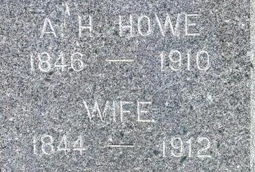 HOWE, A. H. - Woodbury County, Iowa | A. H. HOWE