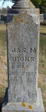 IRONS, JAMES M. - Woodbury County, Iowa | JAMES M. IRONS