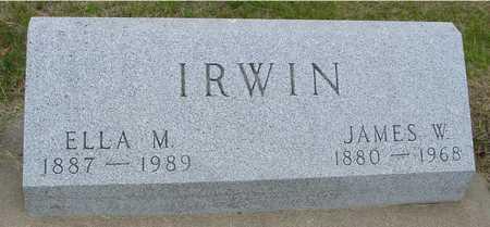 IRWIN, JAMES & ELLA - Woodbury County, Iowa | JAMES & ELLA IRWIN