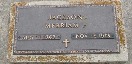 JACKSON, MERRIAM F. - Woodbury County, Iowa | MERRIAM F. JACKSON