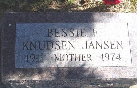 JANSEN, BESSIE F. - Woodbury County, Iowa | BESSIE F. JANSEN