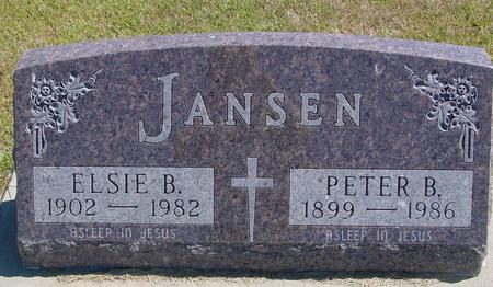 JANSEN, PETER & ELSIE - Woodbury County, Iowa | PETER & ELSIE JANSEN
