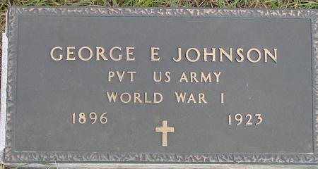 JOHNSON, GEORGE E. - Woodbury County, Iowa   GEORGE E. JOHNSON