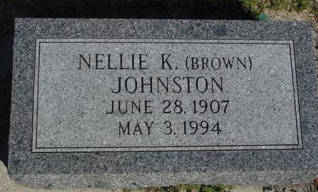 BROWN JOHNSTON, NELLIE K. - Woodbury County, Iowa | NELLIE K. BROWN JOHNSTON