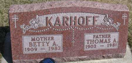 KARHOFF, THOMAS & BETTY A. - Woodbury County, Iowa | THOMAS & BETTY A. KARHOFF