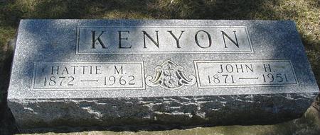 KENYON, JOHN H. & HATTIE M. - Woodbury County, Iowa | JOHN H. & HATTIE M. KENYON