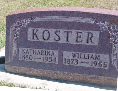 KOSTER, WILLIAM & KATHARINA - Woodbury County, Iowa | WILLIAM & KATHARINA KOSTER