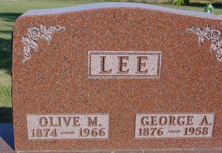 LEE, GEORGE & OLIVE - Woodbury County, Iowa   GEORGE & OLIVE LEE