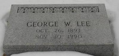 LEE, GEORGE W - Woodbury County, Iowa | GEORGE W LEE