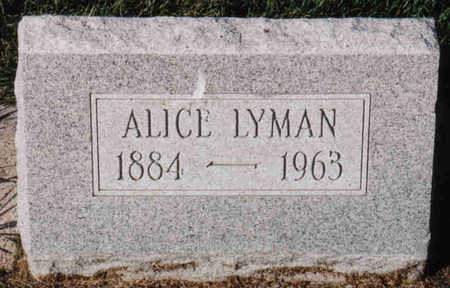 LYMAN, ALICE - Woodbury County, Iowa | ALICE LYMAN