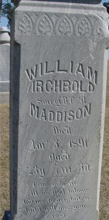 MADDISON, WILLIAM ARCHIBOLD - Woodbury County, Iowa | WILLIAM ARCHIBOLD MADDISON