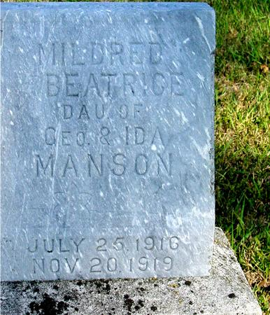 MANSON, MILDRED BEATRICE - Woodbury County, Iowa | MILDRED BEATRICE MANSON